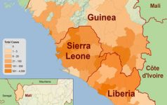 Ebola distribution map Nov 14, CC CDC
