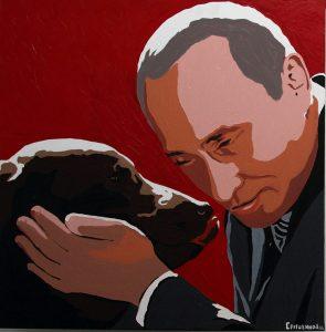 Putin painting by Alexei Sergiyenko, photo cc Flickr Volna80