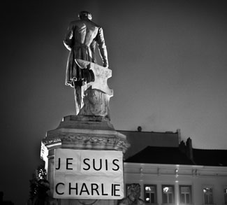 Charlie Hebdo Memorial France, cc Flickr Valentina Calà, modified, https://creativecommons.org/licenses/by-sa/2.0/