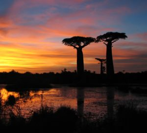 Sunset in Madagascar, cc Bernard Gagnon Wikicommons