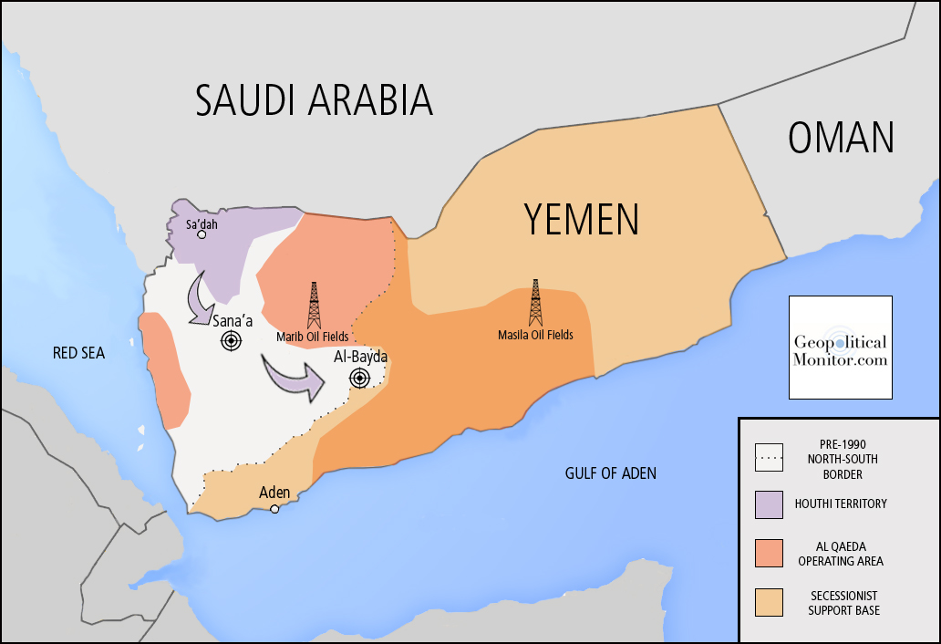 Yemen the worlds newest failed state geopolitical monitor yemen map geopoliticalmonitor gumiabroncs Images