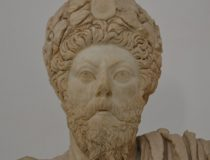 A bust of Emperor Marcus Aurelius at the Bardo Museum. cc Flickr, Richard Mortel, modified,