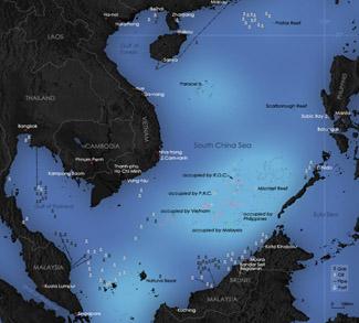 South China Sea Dispute, cc wikicommons Yeu Ninje
