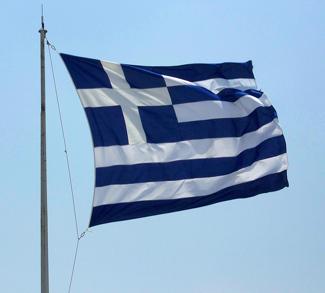 Greek flag, cc Flickr Eusebius@Commons
