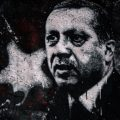 Grafitti of Turkey president Tacip Erdogan, whose policy is turning the MENA region upside-down.