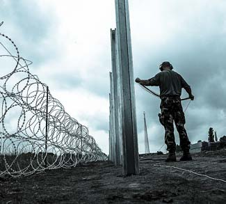 Hungary builds border fence on its border with Serbia, cc Freedom House Flickr, modified, https://creativecommons.org/licenses/by/2.0/