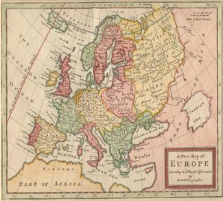 EuropeMap_1721, cc Wikicommons