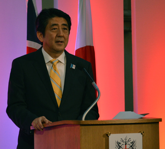 Shinzo_Abe,_Prime_Minister_of_Japan_(9092387608), cc Wikicommons, Chatham House London