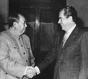 Public Domain: President Nixon Meets Chairman Mao, 1972 (NARA)