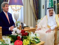 By U.S. Department of State from United States - Secretary Kerry Sits With Saudi King Salman Before Bilateral Meeting in Riyadh, Public Domain, $3