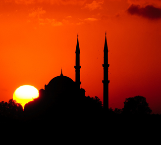 sunset mosque, cc Flickr Matthias Rhomberg, modified, https://creativecommons.org/licenses/by/2.0/