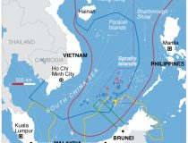 China Claims in South China Sea, public domain, voice of america, China Claims in South China Sea, public domain, Voice of America, https://commons.wikimedia.org/wiki/File:South_China_Sea_claims_map.jpg