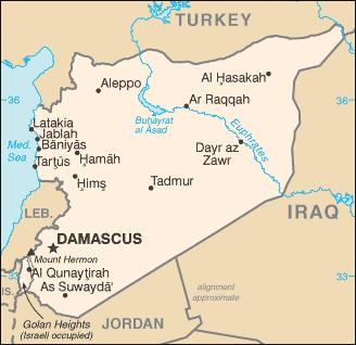 SyriaMap, cc CIA Factbook