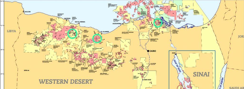 Egypt map frac