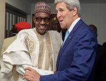 US Secretary of State John Kerry meets with President Buhari to discuss the Boko Haram insurgency among other issues.
