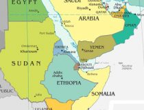 Map of Ethiopia and region.