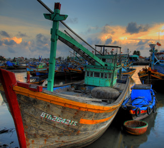 A fishing boat in Vietnam. Vietnam is one of the major players in the South China Sea dispute.