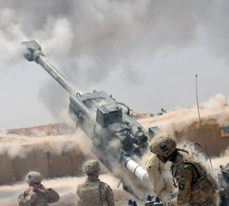 Artillery support Iraqi security forces with indirect fires