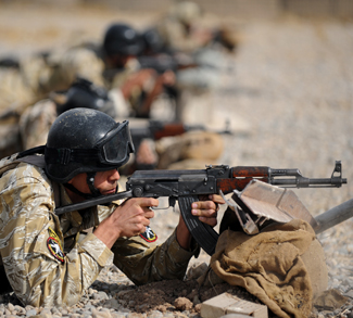 Members of the Iraqi 6th Emergency Response Battalion conduct weapons training under the supervision of U.S. Special Operations Forces Oct. 17. Members of the Combined Joint Special Operations Task Force-Arabian Peninsula advise, train, and assist the Iraqi Security Forces during Operation New Dawn. (Photo by U.S. Navy Petty Officer 1st Class James E. Foehl) Combined Joint Special Operations Task Force - Arabian Peninsula Date Taken:10.17.2010 Location:MOSUL , IQ