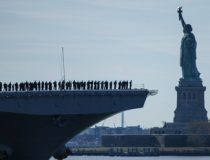 NEW YORK (Nov. 10, 2016) -- USS Iwo Jima (LHD 7) sails past the Statue of Liberty as it enters New York Harbor prior to Veterans Week NYC 2016 which honors the service of all our nation's veterans. The approximately 1,000 Sailors and more than 100 Marines on board Iwo Jima will participate in a number of events throughout the city, including the Veterans Day parade Nov. 11. The ship recently returned from the humanitarian assistance mission to Haiti in the aftermath of Hurricane Matthew #USNavy #NYC #VeteransDay #NeverForget (U.S. Navy photo by Petty Officer 2nd Class Carla Giglio/Released)