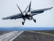 public domain, An F/A-18E Super Hornet takes off from the aircraft carrier USS Carl Vinson in the Pacific Ocean, Jan. 16, 2017. The pilot and aircraft are assigned to Strike Fighter Squadron 137. Navy photo by Petty Officer 2nd Class Sean M. Castellano