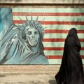 infamous anti-US Iran mural, cc Flickr Kamyar Adl, modified, https://creativecommons.org/licenses/by/2.0/