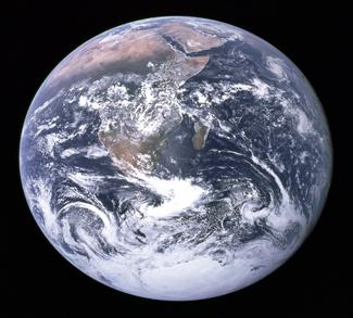 Photo of earth taken from Apollo 17 mission, public domain, https://en.wikipedia.org/wiki/Earth#/media/File:The_Earth_seen_from_Apollo_17.jpg