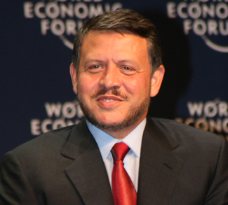King Abdullah captured at the World Economic Forum on the Middle East held at the Dead Sea in Jordan 18-20 May 2007. Copyright [http://www.weforum.org World Economic Forum] ([http://www.weforum.org www.weforum.org])
