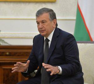 Prime Minister of Uzbekistan Shavkat Mirziyoyev., Kremlin.ru - http://en.kremlin.ru/events/president/news/52839