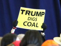 Trump_Digs_Coal, cc Tammy Anthony Baker, modified, https://commons.wikimedia.org/wiki/File:Trump_Digs_Coal_LAGOP_GOTVR_Dec2016_140_(31439762592).jpghttps://commons.wikimedia.org/wiki/File:Trump_Digs_Coal_LAGOP_GOTVR_Dec2016_140_(31439762592).jpg