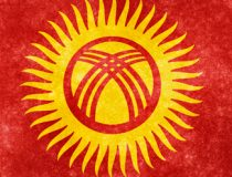 Kyrgflag, cc Nicholas Raymond, modified, http://freestock.ca/flags_maps_g80-kyrgyzstan_grunge_flag_p1243.html