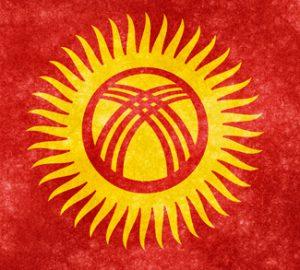 Kyrgflag, cc Nicolas Raymond, modified, http://freestock.ca/flags_maps_g80-kyrgyzstan_grunge_flag_p1243.html