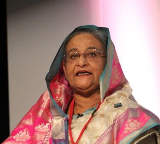 Hasina2, cc Russell Watkin/Department for International Development, modified, https://commons.wikimedia.org/wiki/File:Sheikh_Hasina,_Honourable_Prime_Minister_of_Bangladesh.jpg