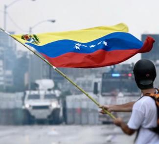2017_Venezuelan_protests_flag, cc Efecto Eco wikicommons, modified, https://en.wikipedia.org/wiki/File:2017_Venezuelan_protests_flag.jpg