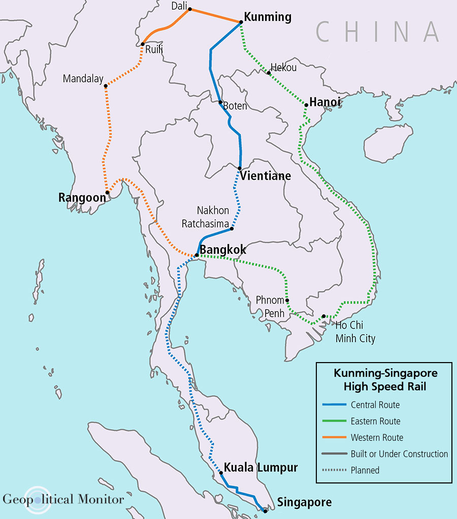 The Nanning Singapore Economic Corridor Or China Indochina Peninsula Cicpec Is One Of Six Major Corridors Envisioned By S