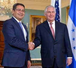 Secretary_Tillerson_Hosts_Honduran_President_Juan_Orlando_Hernandez_at_the_State_Department_(33420471702), modified, Department of State, https://commons.wikimedia.org/wiki/File:Secretary_Tillerson_Hosts_Honduran_President_Juan_Orlando_Hernandez_at_the_State_Department_(33420471702).jpg