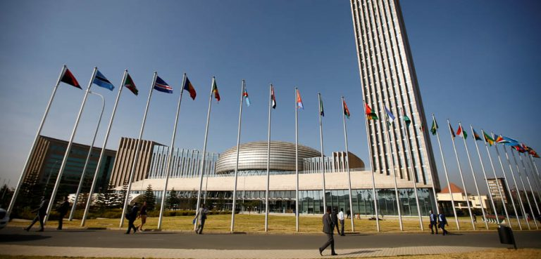 African Union Headquarters, cc Flickr Artyukh Igor, modified, public domain