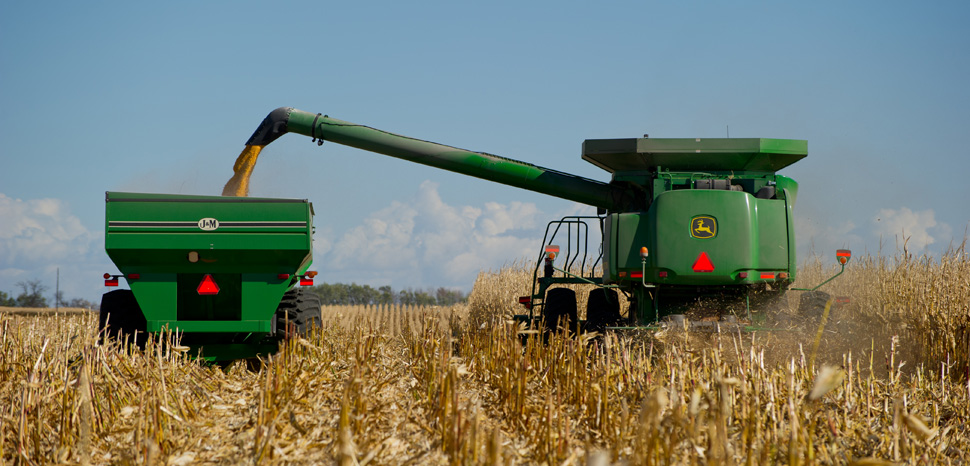 Combine, cc Flickr United Soybean Board, modified, https://creativecommons.org/licenses/by/2.0/