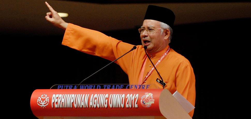 Kuala Lumpur, 01/12/2012 UMNO President, Datuk Seri Najib Razak during Umno General Assembly.. Pic Firdaus Latif https://ms.wikipedia.org/wiki/Mohd_Najib_bin_Abdul_Razak#/media/File:Najib_Razak_(cropped).jpg