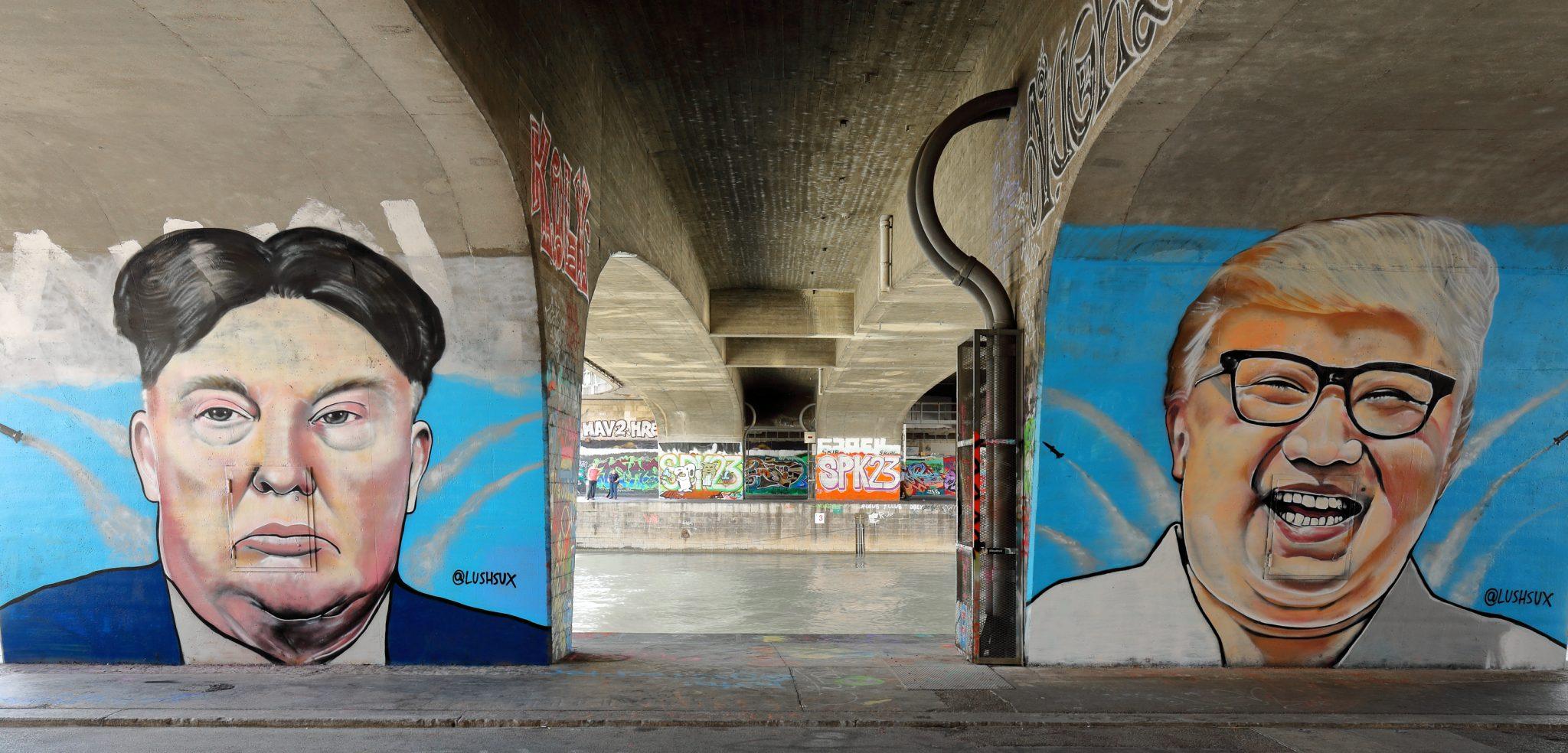 Wien_-_Donald-Trump-_und_Kim-Jong-un-Graffiti_von_Lush_Sux, cc © Bwag/Wikimedia or © Bwag/Commons or © Bwag/CC-BY-SA-4.0
