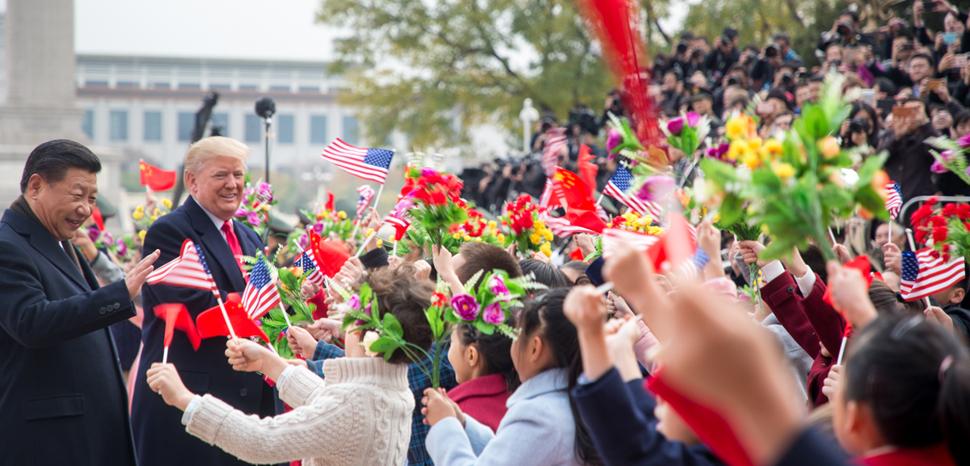 Presidents Trump and Xi on the US president's trip to Asia. cc Whitehouse.gov, modified, https://www.whitehouse.gov/copyright/