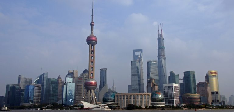 Pudong, cc Flickr Patrick Denker, modified, https://creativecommons.org/licenses/by/2.0/