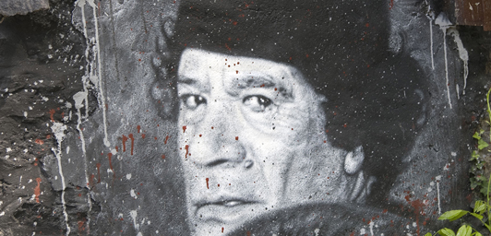 Gaddafi, cc Flickr thierry ehrmann, modified, https://creativecommons.org/licenses/by/2.0/