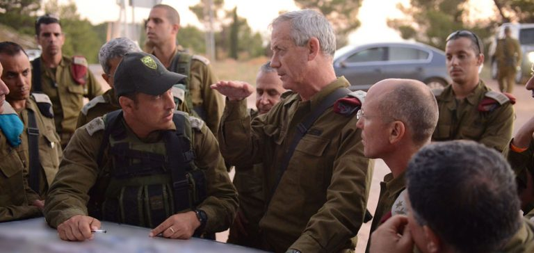 Chief of the General Staff Lt. Gen. Benny Gantz visited IDF bases in Judea and Samaria Tuesday (June 17) as a part of Operation Brother's Keeper. , Israel Defense Forces, modified, Flickr, https://creativecommons.org/licenses/by/2.0/