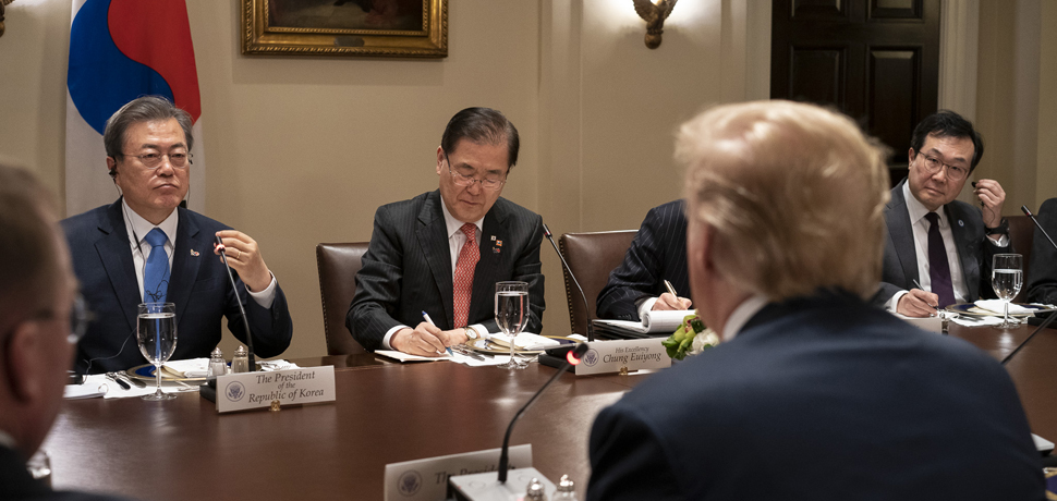 President Donald J. Trump and President Moon Jae-in of the Republic of Korea, cc Flickr White House, modified, https://creativecommons.org/publicdomain/mark/1.0/