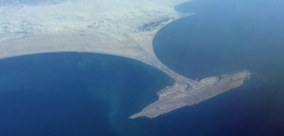 GwadarPort, cc Bjoertvedt, modified, Wiki Commons, https://commons.wikimedia.org/wiki/File:Pakistan_Balochistan_province_-_Gwadar_IMG_7931.jpg