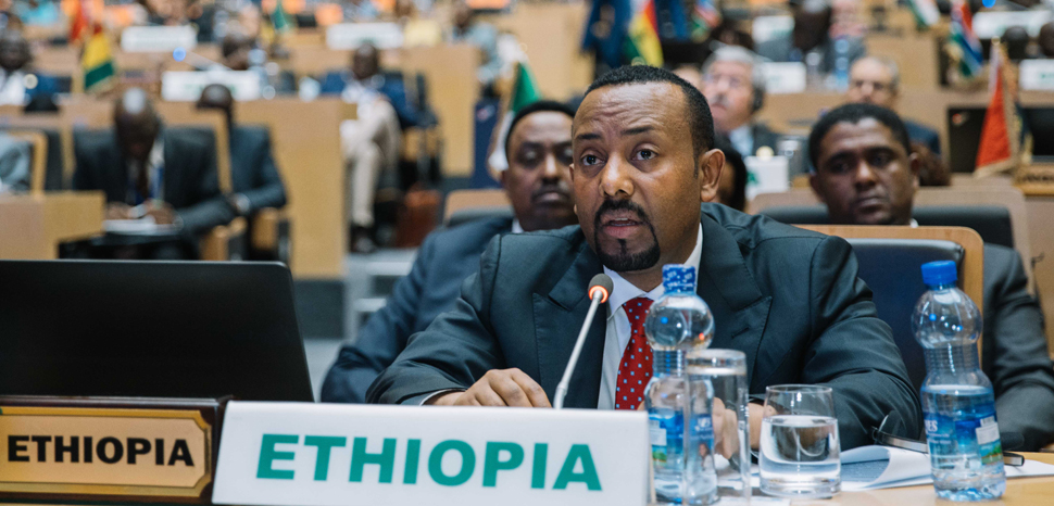 Ethiopia at the African Union, cc Flickr Office of the Prime Minister - Ethiopia, modified, https://creativecommons.org/publicdomain/mark/1.0/