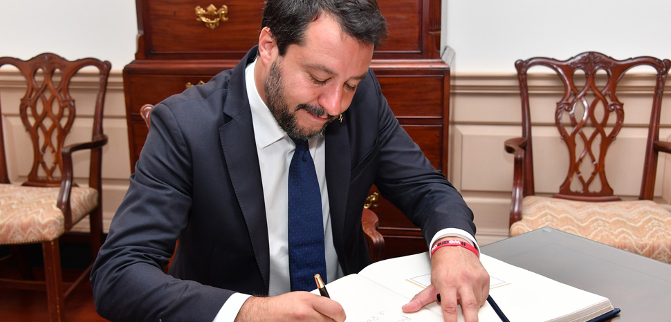 Deputy Prime Minister Matteo Salvini, modified, US Department of State, http://www.usa.gov/copyright.shtml