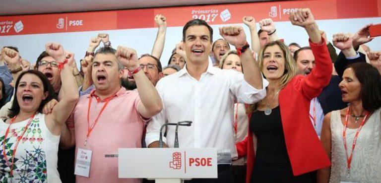 https://www.eldiario.es/licencia/, cc Marta Jara / eldiario.es - Pedro Sánchez se impone al PSOE del pasado, modified, https://en.wikipedia.org/wiki/Pedro_S%C3%A1nchez#/media/File:Pedro-Sanchez-primarias-PSOE-Internacional_EDIIMA20170522_0010_19.jpg