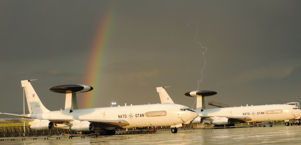 NATO Awacs, cc Flickr NATO E-3A Component, modified, https://creativecommons.org/licenses/by/2.0/